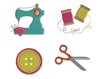 Mini Sewing Set Machine Embroidery Design Set-INSTANT DOWNLOAD