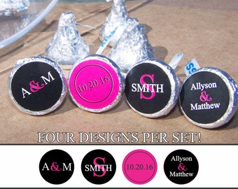 324 count Custom Wedding Candy Labels - Wedding Favors - Candy Stickers - Custom Labels