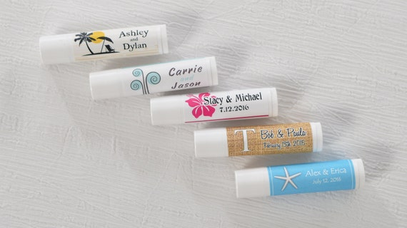 Items similar to lip balm labels wedding stickers chap for Chapstick label design