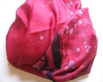 Reclaimed Sari Infinity Scarf