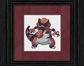 Krookodile Pokemon Cross Stitch Pattern - Instant PDF Download