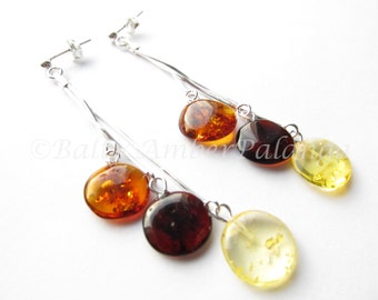 Baltic Amber Dangle Earrings