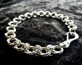 Single Fleur Stainless Steel (4mm & 6mm) Chainmail Jewellery Bracelet