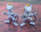 Awesome Mewtwo Pokemon Earrings - Jewelry