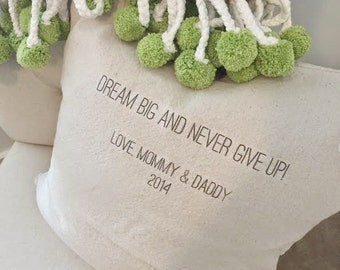 ADD ON- Message, Quote, Name on Back of Pillow Cover