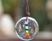 Mini Chakra Channel Necklace, Reiki, Healing, 7 Chakras