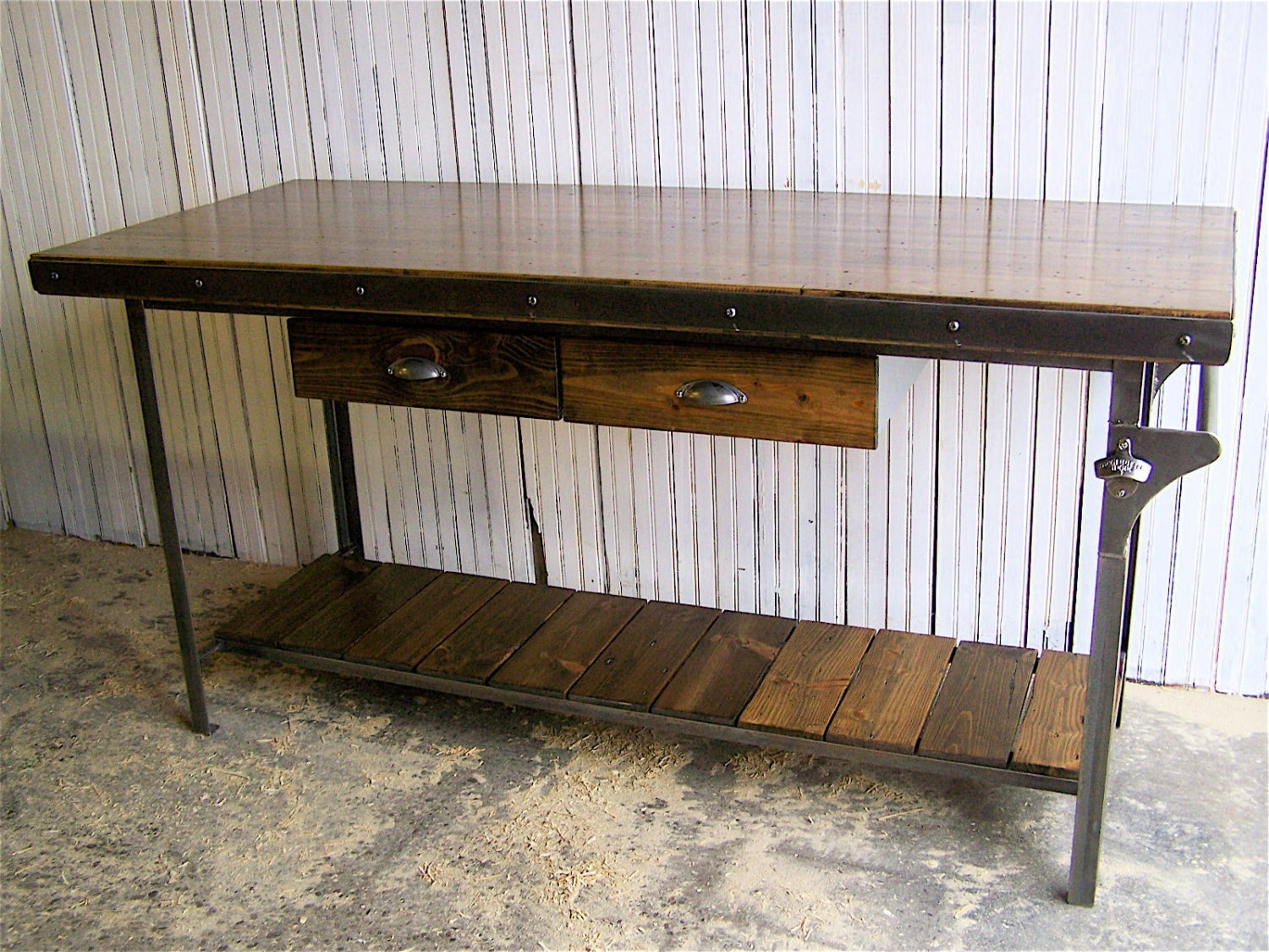 reclaimed wood kitchen island butcher block by