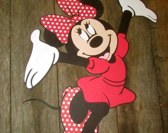 Minnie Mouse Classic Diecut - scrapbooking, centerpiece, party decor, Classic Red polka dot minnie mouse