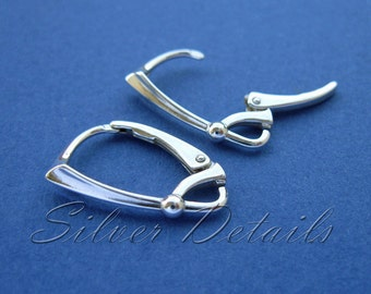 Top Quality Sterling Silver Lever backs 925 model ES77 1 pair