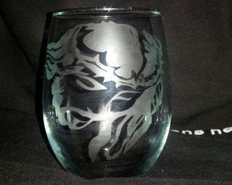 Jesús Cristh Etched Glass