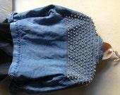 Studded Denim Jacket Medium Punk