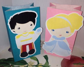 Cute Little Kids Dressed Up As Prince and Princess Party Goody Bags
