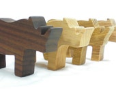 Wooden Rhino Toy Animal Party Favor