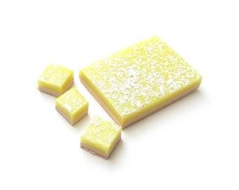 Lemon Bars Miniature Dollhouse Polymer Clay Dessert with Powdered Sugar