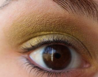 Mineral Eyeshadow - Metallic Khaki Eyeshadow-  Metallic Eyeliner -  Khaki Green Eyeliner - Vegan Shadow - Vegan Makeup
