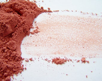 Mineral Blush - Peaches And Cream  Blush Powder -Zero Waste -  Mineral Makeup -  Soft Matte Finish Blush -  Vegan Blush - Vegan Makeup