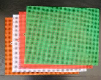 Plastic Canvas Sheets Four Sheets