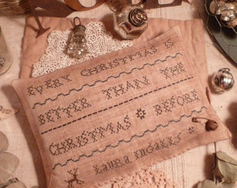 PRIMITIVE CHRISTMAS - E-Pattern- SAMPLER- Every X-mas is better than the X-mas before-Laura InGaLLs  - The Blue Attic