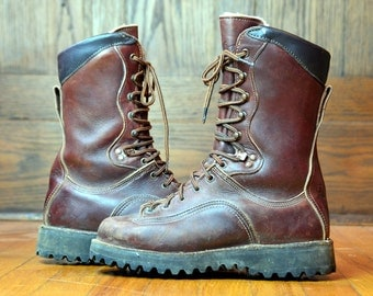 Vintage Danner Work Boots Brown Leather Hunting Boots Men's size 7