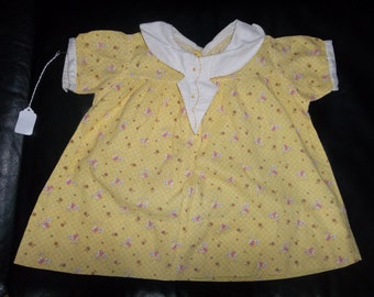Mid Century  Baby Dress ...Emroidered...Matching Panties.Cotton....Good Condition...Hand Made