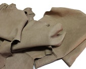 Italian thick vegetable tanned Lambskin leather hides skins hide WASHED GRAINY BEIGE 4sqf  #7926