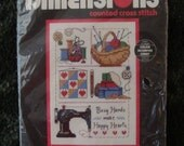 "Counted Cross Stitch Kit - ""Sew Busy""  by Dimensions, Inc."