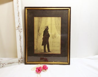 Silhouette Antique William Brown Lithograph Print Silhouette Portrait of John Forsyth 1931 Reissue