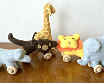 Mini Safari Centerpiece Set - Safari Nursery Decoration