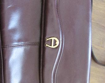 Vintage AIGNER Oxblood Red Leather Handbag