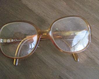 Vintage 1970's CHRISTIAN DIOR Large Lens Eyeglasses
