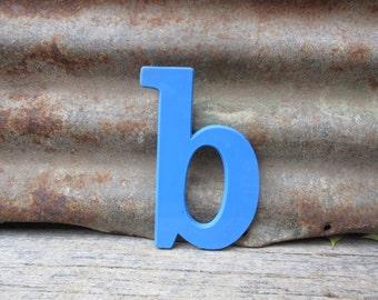 Vintage Letter Sign Lower Case 6 Inch Letter B Sign Blue Plastic Letter Sign Display Marquee Alphabet vtg Letters Wall Art Pop Art Retro