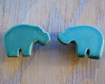 safari nursery handmade ceramic furniture knob, drawer pull