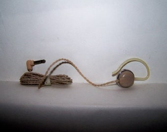 Vintage Earphone Ear Phone Ear Piece with Ear Hook Retro