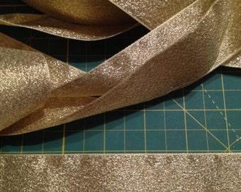 Berisfords Gold Metallic Lame 40mm Ribbon x 5 metres