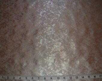 Beautiful Ivory Metallic Irridescent Floral Brocade Fabric x one yard