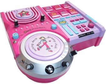 Circuit Bent  Mix Me DJ Drum Machine toy with 15 Modifications
