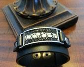 Stingray inlay bracelet