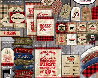 Lumberjack Party Decorations | Lumberjack Birthday Party | Lumberjack First Birthday | Set Collection | Signs Banner Party Favor | Printable