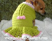 Instant Download Crochet Pattern - Amber Spring Dog Sweater - Small Dogs 2-15 lbs
