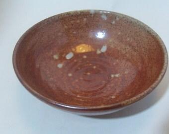 Dessert bowl. With shino glaze.