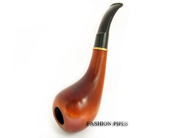 """Wooden Pipe """"IRISH"""" Tobacco Pipe/pipes, Smoking Pipe. Handcrafted Wood Pipe & Pouch Gift, Designed for real Pipe Smokers."""
