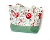 Best Diaper Bags for moms, mint green and floral tote bag, mothers bag, trendy diaper bags