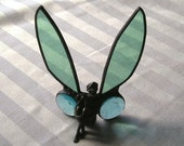 Stained Glass Art|Stained Glass Fairy|Fairy|Green|Aqua|Window Decoration|Shelf Decoration|Home & Living|Home Decor|Handcrafted|Made in USA