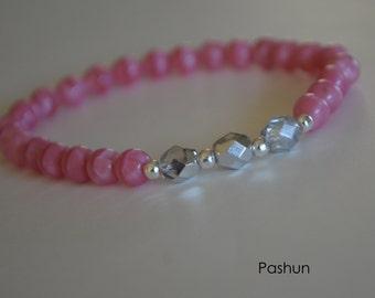 Yoga Stretch Bracelets ... Pink (1384)