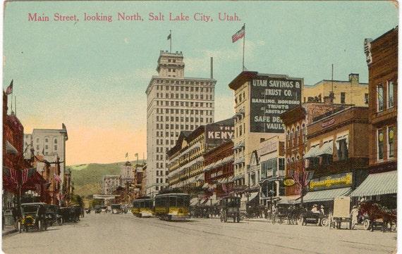 items similar to vintage postcard salt lake city utah