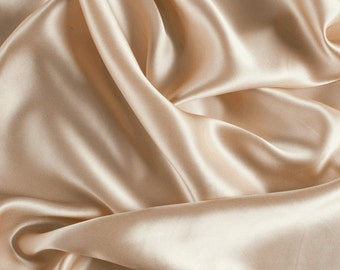 "45"" Wide 100% Silk Charmeuse Champagne-Wholesale by the Yard"