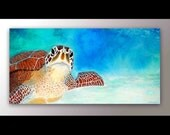 Sea Turtle Decor | Sea Turtle Art | Ocean Art | Wall Art Canvas | Art Canvas Print | Turtle Art l Gift For Her | Christmas Gift | Nursery