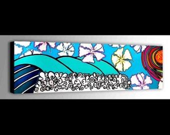 Wave Canvas | Surf Decor | Ocean waves | Children Art | Ocean Canvas | Fun Art | Water Canvas | Bright Wall Art | Kids Room Decor | Surf