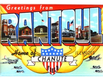 Greetings from Rantoul Illinois Fridge Magnet