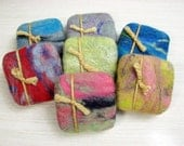 Honey & Oatmeal Felted Soap in a sweater - Shea Butter Hand-made